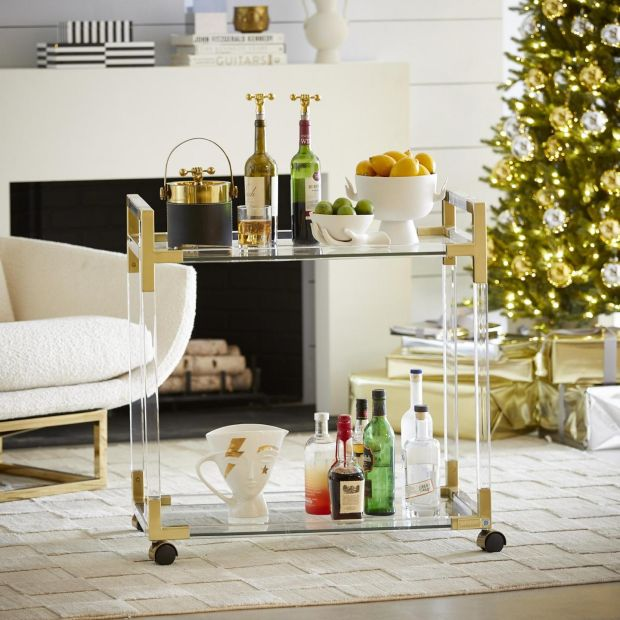 Bar cart from Jonathan Adler