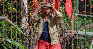 Bridge of sighs: Andrew Maxwell leaves the jungle after being voted off I'm a Celebrity... Get Me Out of Here!