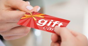 Charging a fee for changing a name on a gift voucher is also outlawed by the new rules. Photograph: iStock