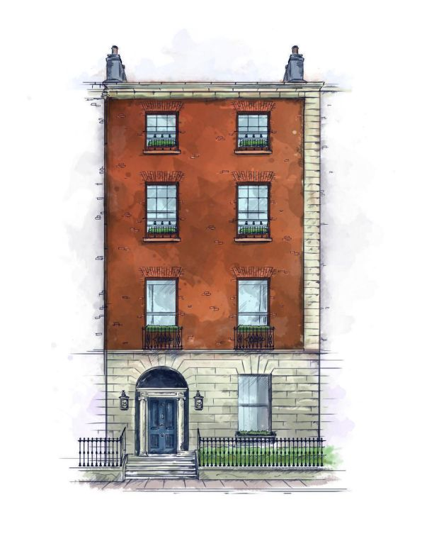 An illustration of number 25 Fitzwilliam Place. Image: Joe Maher