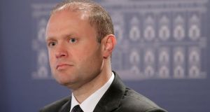 Maltese prime minister Joseph Muscat's speech seemed almost designed to provoke, rather than placate, citizens worried about rule of law.  Photograph: Domenic Aquilina/EPA