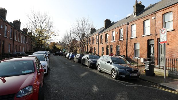 Redbrick houses on Elmwood Avenue Lower. Property is expensive in the area, but the occasional bargain can be found. Photograph: Nick Bradshaw