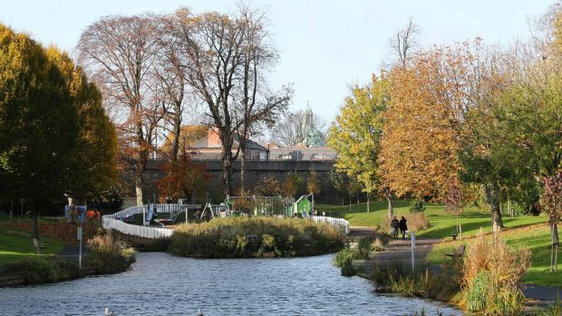 Ranelagh Park is among the number of green spaces this Dublin city suburb has to offer. Photograph: Nick Bradshaw