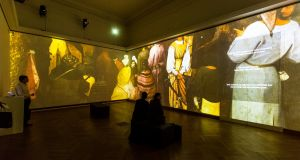Bruegel Box: three of the artist's painting    are projected on to   walls, floor to ceiling around you, at the Royal Museums of Fine Arts