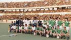 The Irish teams in Tripoli in 1989