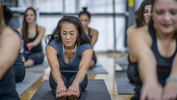 Pick a beginner's class: now is not the time to throw yourself into Bikram yoga. Photograph: iStock