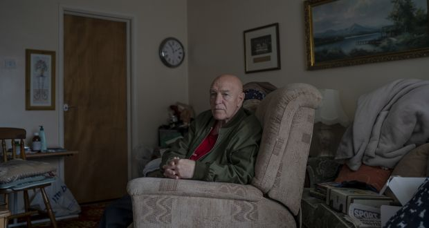 Joe Holbeach at his home in Lurgan. Photograph: Andrew Testa/The New York Times