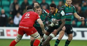 Northampton lock Courtney Lawes will miss Saturday's Heineken Champions Cup game against Leinster at Franklin's gardens. Photograph: David Rogers/Getty Images