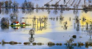 The European Environment Agency has warned the increasing impacts of climate disruption, such as flooding, means Europe faces 'unprecedented' environmental challenges. Photograph: Janez Zalazni/EEA