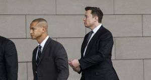 "Tesla chief executive Elon Musk will have to go before a federal jury and defend calling a British caver a ""pedo guy."" Photograph: Bloomberg"