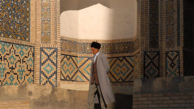 The Mir-i-Arab Madrasa is one of the most famous buildings in the center of Bukhara.