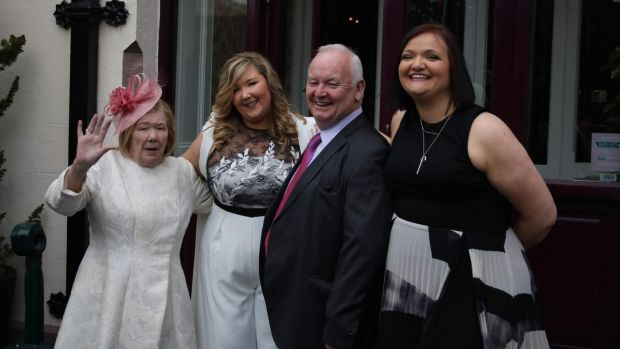 "Mum (Bernie Jordan) and Dad (Gerry Jordan) at Ciara's civil ceremony last May: ""My wedding was in Portugal but she couldn't come so we had a mini-wedding for our civil ceremony."""