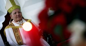 "Patriarch of the Chaldean Church, Louis Raphael Sako: ""There will be no decorated Christmas trees in churches or streets, no celebrations and no reception at the patriarchate."" Photograph:  Safin Hamed/AFP via Getty Images"