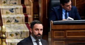 Far-right Vox party's leader Santiago Abascal – who lives in the same neighbourhood as the facility – said the centre and its residents  had left many local people feeling unsafe. Photograph: Pierre-Philippe Marcou/AFP/Getty