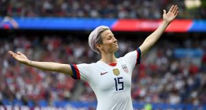 United States forward Megan Rapinoe  might have made my top 10 list when it comes to influence and inspiration, but my winner was Julie Ertz or Lucy Bronze. Photograph: Getty Images