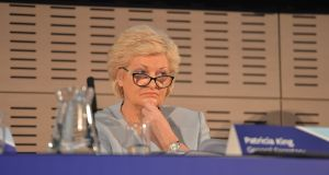 Patricia King: she has urging unions dealing with private sector employers to seek pay increases of between 3.5% and 4.5%  next year. Photograph: Alan Betson