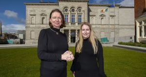 Mary Leane, left, head of finance at the National Gallery of Ireland, and Katie Haverty, who recently finished her first year of the Accounting Technicians Ireland apprenticeship programme. Photograph: Fintan Clarke