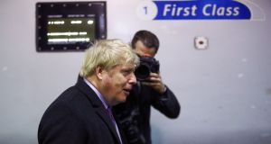 British prime minister Boris Johnson said the Conservative Party wants 'to abolish poverty'.  Photograph: Hannah McKay/Reuters