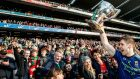 Lee Keegan celebrates Mayo's victory over Kerry in the  Allianz League Division One  final  at Croke Park last March. Photograph: James Crombie/Inpho