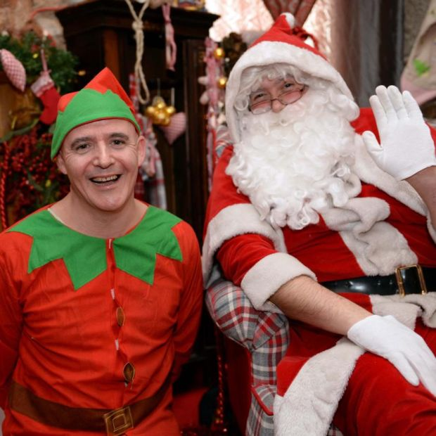 Conor Pope as the elf at Santa's grotto at Powerscourt House in 2013. Photograph: Eric Luke