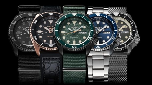 Seiko has relaunched its classic 5 Sports divers' watch in a variety of styles.