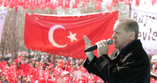 Turkey's President Recep Tayyip Erdogan: If he had not intervened Syria would have emerged with a limited number of victims, little damage,few internally displaced and fewer refugees. Turkey, Lebanon and Jordan would also have escaped the negative human, economic and political impacts of the war across their borders.