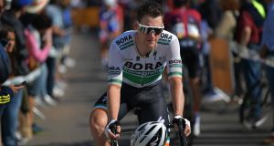 Sam Bennett: this week Deceuninck-QuickStep confirmed the signature of the Irishman  who spent  several seasons with the Bora-hansgrohe team. Photograph: Justin Setterfield/Getty