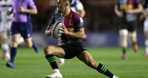 "Niall Saunders: ""I set my goal at being the number nine at Harlequins and that is something that I want to achieve."" Photograph:  Henry Browne/Getty Images"