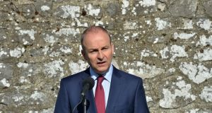 Fianna Fáil leader Micheál Martin:  'The island of Ireland is facing its greatest threat through Brexit.' Photograph: Alan Betson/The Irish Times