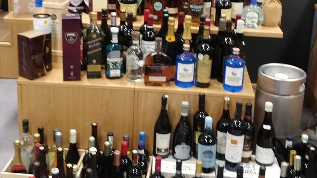 Officers found more than 200 bottles of 'high-value wines and spirits' worth about €20,000
