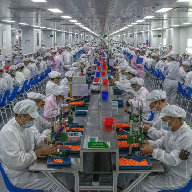 Big business: an e-cigarette production line in China. Photograph: Gilles Sabrie/New York Times