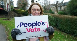 "Jayne Doddsworth,  a People's Vote campaigner,  sees this election about being ""head rather than heart"".   Photograph: Enda O'Dowd"