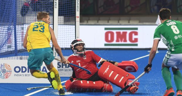 Ireland hockey goalkeeper David Harte is hoping to secure a place on the IOC Athletes' Commission. Photograph: Inpho