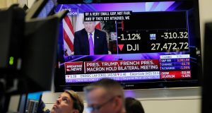 Just 25% of Democrat supporters knew stocks had risen this year, while 58% of Republicans did, according to a Financial Times poll. Photograph: Lucas Jackson/Reuters