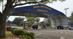 US naval air station in Pensacola, Florida: Friday's attack followed a US sailor shooting dead two workers there on Wednesday. Photograph: Patrick Nichols/US Navy