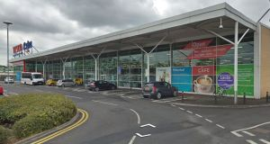 The Tesco Extra store in Antrim town from which the ATMs were stolen. File photograph: Google Street View