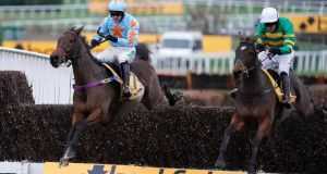 Defi Du Seuil (R) pipped Un De Sceaux at Sandown. Photograph: Alan Crowhurst/Getty