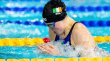 Ireland's Mona McSharry in action during the final of the 100m breaststroke at the LEN European Short Course Swimming Championships at the Tollcross International Swimming Centre in Glasgow. Photograph: Giorgio Scala/Inpho