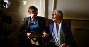 January 2015: Anne Enright, with her mother Cora Enright, when she was announced as laureate for Irish fiction. Photograph: Alan Betson