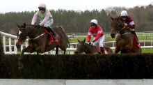 Min and Paul Towenend (L) took the John Durkan Chase at Punchestown. Photograph: Bryan Keane/Inpho