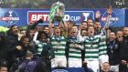 Celtic celebrate their League Cup victory. Photograph: Ian MacNicol/Getty