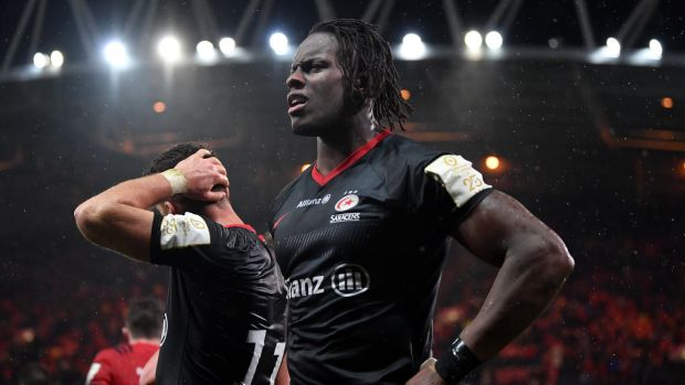 Maro Itoje was the only member of Saracens' England contingent to feature against Munster. Photograph: Dan Mullan/Getty
