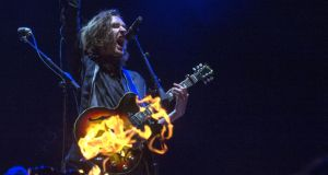 Hozier:  expect some  new songs mixed with crowd-plesaers such as Take Me To Church and Nina Cried Power.  Photograph: Dave Meehan/The Irish Times