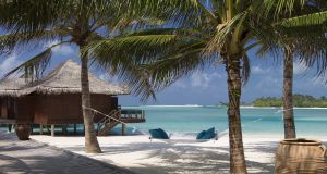 "Anantara Dhigu in the Maldives. ""Everywhere you turn is perfect. Coconut trees shade views of the ocean. The coconuts themselves are delicious."""