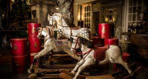 The Store Yard has a selection of 19th century rocking horses,  from €350, and vintage red hat boxes from Christy's of London c1960, €90 each.