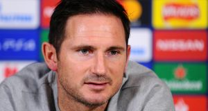 "Frank Lampard: ""I like the pressure of this game being a knockout. If we're going to do anything good here then we are going to need lots of these nights."" Photograph: Alex Burstow/Getty Images"