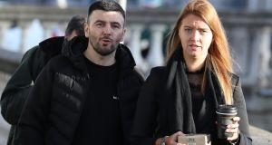 Glen McCarthy and Joanna Walsh pictured leaving court after their action for damages failed.  Photograph: Collins Courts
