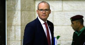 Minister for Foreign Affairs  Simon Coveney  after meeting Palestinian officials on December 3th, 2019, at the Palestinian Authority headquarters in the West Bank city of Ramallah. Photograph:  Abbas Momani/AFP via Getty Images