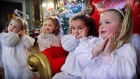 Little Angels sing at Mansion House for opening of live animal crib