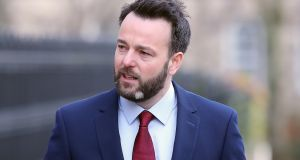 SDLP leader Colum Eastwood arrives for the recording of UTV's election debate in Belfast on Sunday. Photograph: Niall Carson/PA Wire